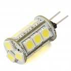 G4 3W 6500K 180-Lumen 15x5050 SMD LED White Light Bulb (12V)