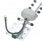 RP-SMA Male 2.4GHz 13-Unit 20dBi Directional High Gain Antenna for Wi-Fi Router - Silver