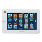 "ViewSonic T432 4.3"" Touch Screen Rechargeable 720P Media Player w/ FM/TV-Out/TF Slot - White (4GB)"