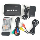 Mini 1080P Full HD Media Player w/ HDMI/USB/SD/YPrPb/AV - Black