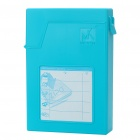 "Mukii ZIPO USB 2.0 Protective Plastic Case w/ Adapter Set for 3.5"" HDD - Blue"