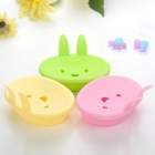 Cute Cartoon MOMO Style Plastic Soap Dish Holder - Random Color