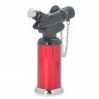 Stand 2-Mode Butane Jet Torch Lighter w/ Cover - Black + Red