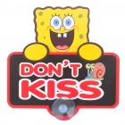 Cute Spongebob Pattern DON'T KISS Car Suction Cup Marker - Black + Yellow