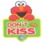 Cute Elmo Pattern DON'T KISS Car Suction Cup Marker - Green + Red