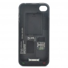 FM01-A Unique Dual SIM Dual Standby Battery Protective Back Case for iPhone 4 - Black