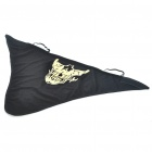 Cool Skull Pattern Triangular Scarf Mask - Black