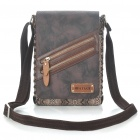 Stylish Snake Skin Pattern One Shoulder Bag - Brown