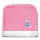 Multifunction Rabbit Pattern USB Plush Hand Warmer Mouse Pad Mat - Pink