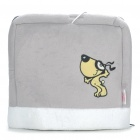 Multifunction Cartoon Pattern USB Plush Hand Warmer Mouse Pad Mat - Grey + White