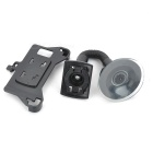 Car Windshield 360 Degree Rotation Swivel Mount Holder for Samsung Galaxy S2/i9100 - Black