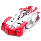 iPhone/iPod Touch/iPad Controlled USB Rechargeable RC 2-CH Wall Climbing Race Car - Silver + Red