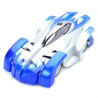iPhone/iPod Touch/iPad Controlled USB Rechargeable RC 2-CH Wall Climbing Race Car - Silver + Blue