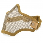Tactical Steel Mesh Protective Mask for War Game - Green