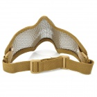 Tactical Steel Mesh Protective Mask for War Game - Earthy