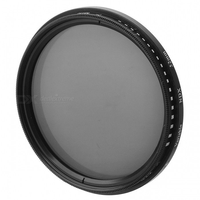 Variable Neutral Density ND2-ND400 Fader ND Filter (52mm) fotga neutral density nd2 nd400 fader nd filter 72mm