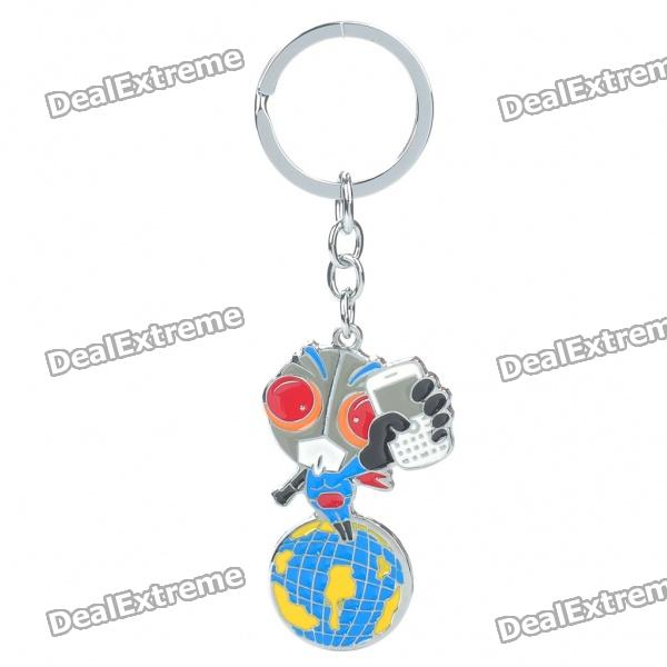 Zinc Alloy Superhero Anime Figure Keychain retro spider zinc alloy keychain bronze
