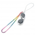 Zinc Alloy Mini Sunglasses with Metal Chain