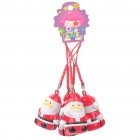 Santa Claus Small Bell Cell Phone Straps (5-Piece Pack)