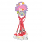 Santa Claus Small Bell Cell Phone Straps (10-Pack)