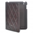 Protective Genuine Leather Case for Apple iPad 2 - Coffee