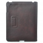 Protective Genuine Leather Case for   Ipad 2 - Coffee