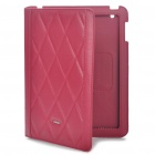 Protective Genuine Leather Case for   Ipad 2 - Red