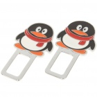Cute Penguin Style Safety Seat Belt Buckles - Pair
