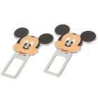Cute Mickey Mouse Style Safety Seat Belt Buckles - Pair