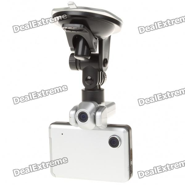 "720P 5MP Dual Lens Car DVR Camcorder w / HDMI / TF Slot (2,8 ""TFT LCD)"
