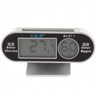 "Solar Powered 1.5"" LCD Digital Thermometer & Hygrometer"