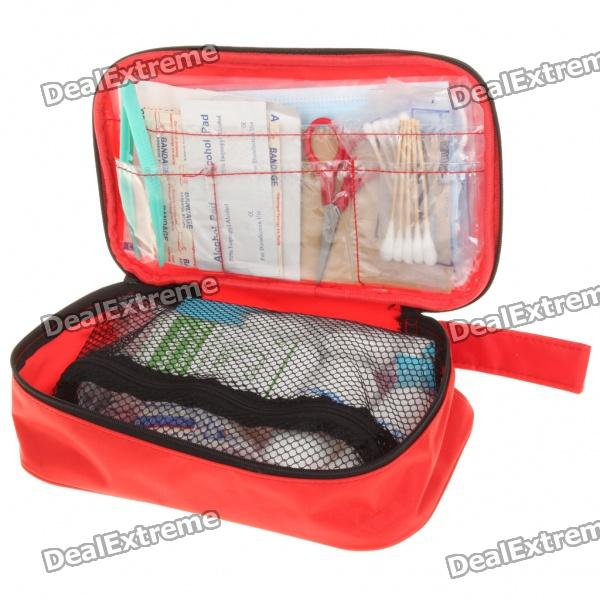Emergency First Aid Kit Bag - Red