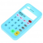 Unique Calculator Style Protective Silicone Back Case for Iphone 4 - Blue