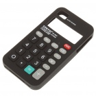 Unique Calculator Style Protective Silicone Back Case for iPhone 4 - Black