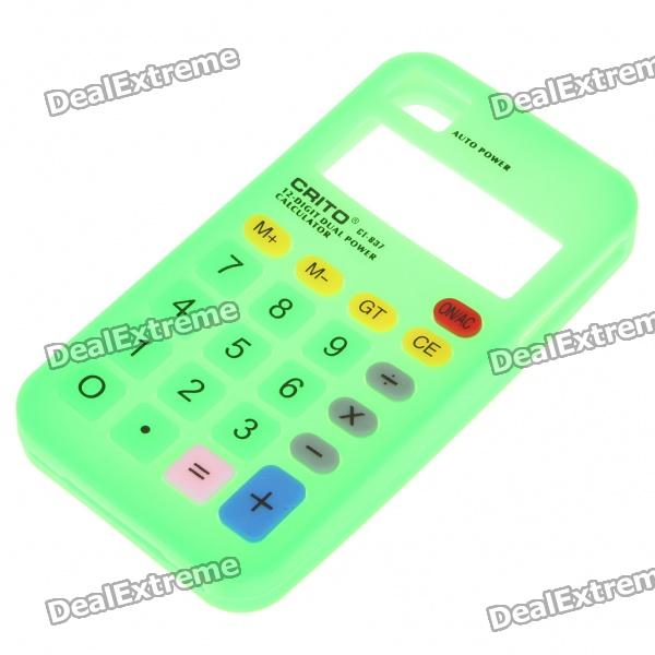 все цены на  Unique Calculator Style Protective Silicone Back Case for Iphone 4 - Green  онлайн