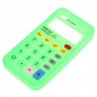 Unique Calculator Style Protective Silicone Back Case for Iphone 4 - Green