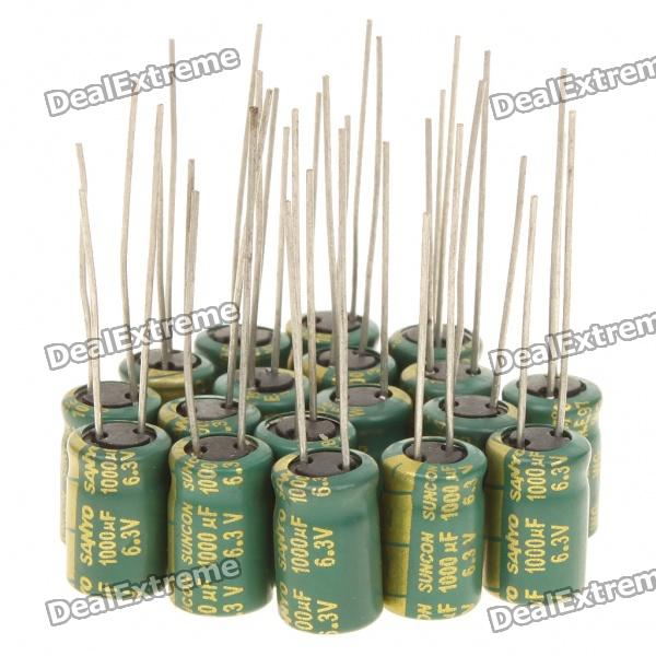 6.3V 1000uf Aluminum Motherboard Capacitors (20-Piece Pack)