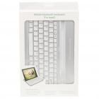 USB Rechargeable Bluetooth V2.0 Aluminum Alloy Cover 82-Key Keyboard for Ipad 2 - Silver + White