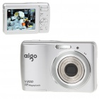 "Aigo V200 12MP CCD Compact Digital Camera Camcorder w/ 3X Optical Zoom/SD Slot - Silver (2.7"" LCD)"