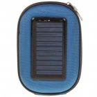 Portable Camera Bag Style Solar/USB Powered 1000mAh Battery Power Pack w/ Charging Adapters - Blue