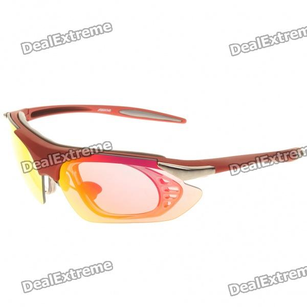Fashion Outdoor Sports UV400 Protection PC Lens Resin Frame Sunglasses Goggle Set just cavalli jc 647s 92