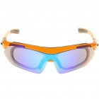 Fashion Outdoor Sports UV400 Protection PC Lens Resin Frame Sunglasses Goggle Set