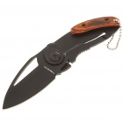 Compact Portable Mini Folding Knife with Clip - Black