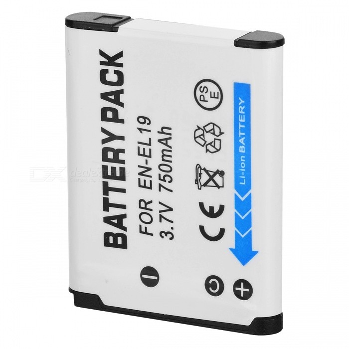 EN-EL19 Replacement 3.7V 670mAh Battery Pack for Nikon Coolpix S3100/Coolpix S4100/S2500