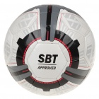 High Quality PU Football Soccer with Ball Needle - White + Grey