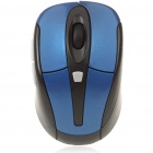 2.4GHz Wireless Mouse with USB 2.0 Receiver - Blue + Black (2xAAA)
