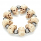 Cool Halloween Skull Head Style Bracelet with Elastic Band - Ivory