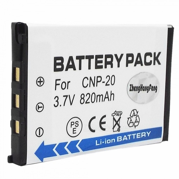 3.7V 820mAh CNP-20 Battery for Casio EX-S1 / S2 / Z1 + More