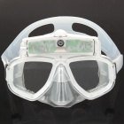 Rechargeable 2.0MP CMOS Underwater Digital Diving Mask Camcorder Camera - Transparent (4GB)
