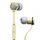 MPINS FITS In-Ear Stereo Headphones w/ Microphone & Volume Control for iPad/iPod/iPhone - Yellow